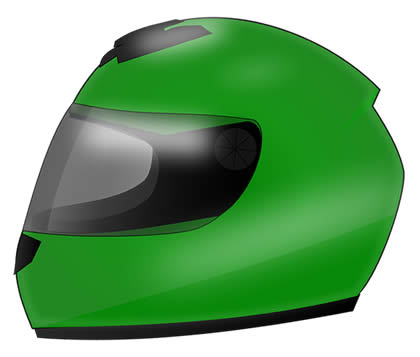 Motorcycle and moped riders must wear a helmet on public roads to remain legal