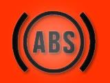 Motorcycle ABS warning light
