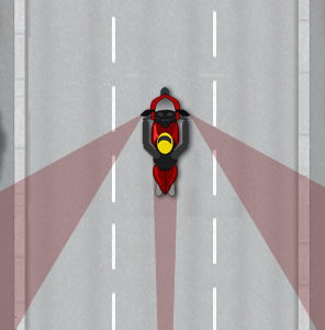Motorcycle blind spot