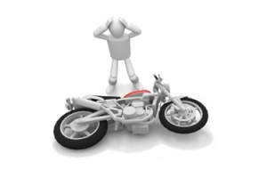 Motorcycle tipping over