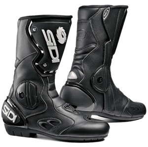 'Racing' style boots tend to be popular offering excellent coverage, ankle and heel protection