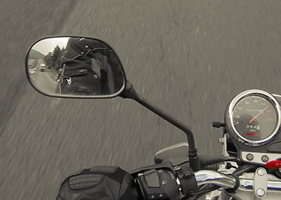 Motorcycle rear observation