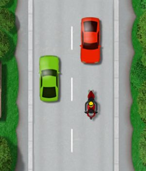 Motorcycle lane discipline centre line