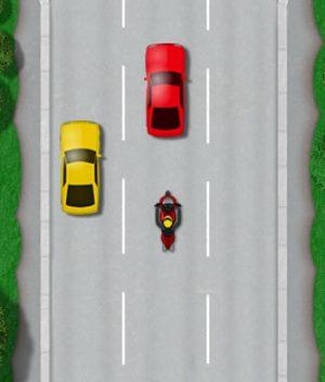 Motorcycle lane discipline hazard line