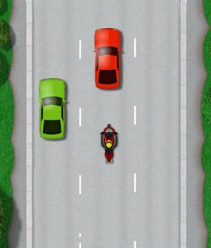 Motorcycle lane discipline lane line