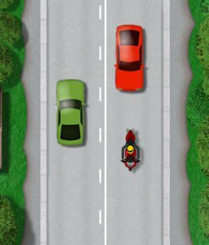 Motorcycle lane discipline solid white line