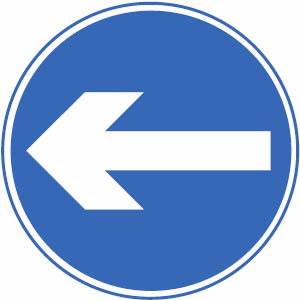 Motorcycle theory test - Mandatory blue signs