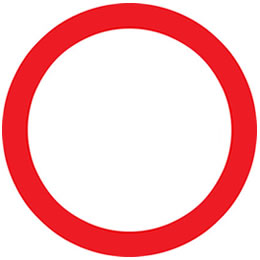Motorcycle theory test circular road signs