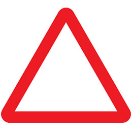 Motorcycle theory test triangular road signs