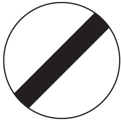 Motorcycle theory test prohibitory national speed limit sign