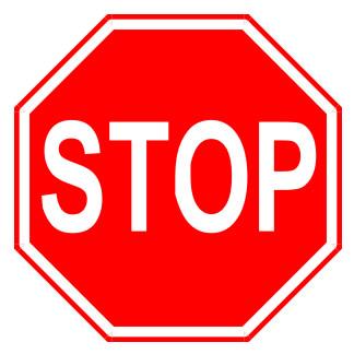 Mandatory stop sign