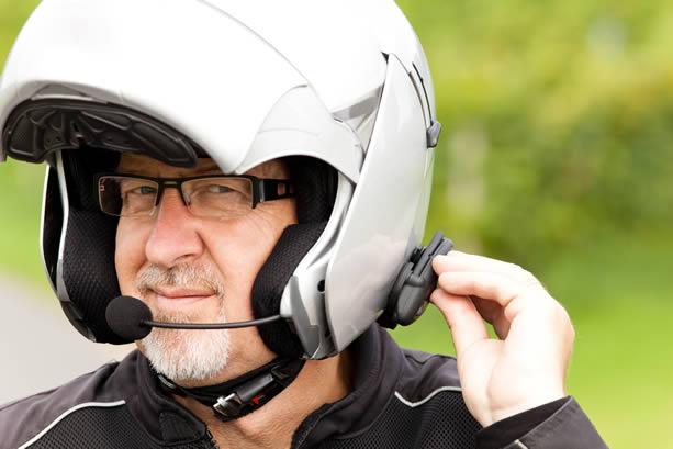 Motorcycle module 2 helmet radio system