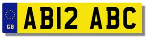 New-style UK number plate