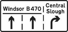 Advance lane select sign