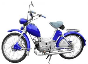 Traditional moped with pedals
