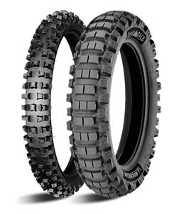 All-terrain tyres have the distinctive block-tracks for maximum loose surface grip