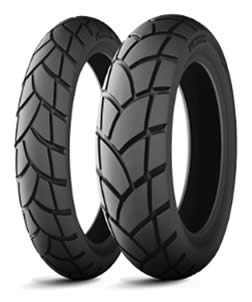 Motorcycle mixed use tyres have wider and deeper tracks