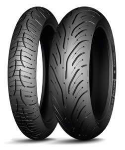Motorcycle road tyres have good dry and wet weather capability