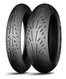 Motorcycle sports tyres have from few grooves to slick