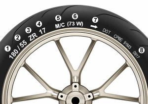 Motorcycle tyre wall number and markings explained